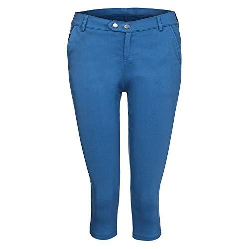 YWLINK Damen Kleidung,Mode Frauen Plus GrößE Solide Knopf ReißVerschluss BeiläUfige Hosen Kurz Geschnittene Hose