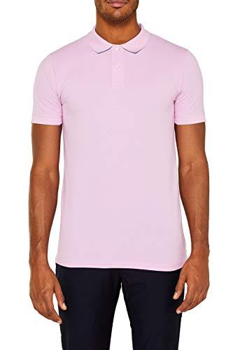 ESPRIT Herren 029EE2K034 Poloshirt, Rosa (Light Pink 690), X-Large (Herstellergröße: XL) -