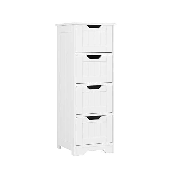 HOMFA Armario de pie Mueble Suelo para baño Armario Dormitorio con 1 Caja y 1 Puerta 40 x 35 x 82cm Blanco