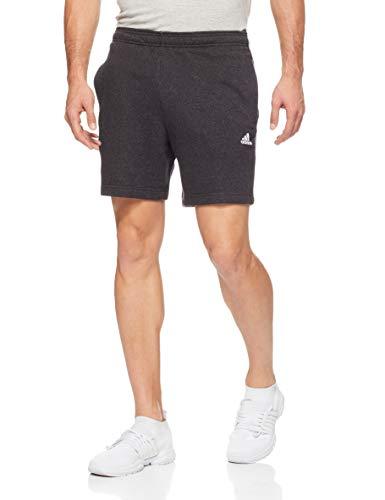 French Terry Logo Short (adidas Herren Sports ID Logo French Terry Short 1/2, Melange/Black, S)