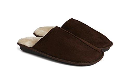 Memory Foam Slippers FM® Faux Fur Lined, Comfort, Memory Foam Mens Slippers...
