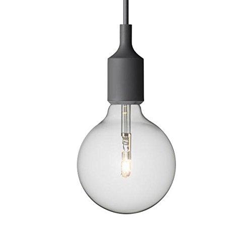 Suspension E27 Douille+Ampoule Torup gris style MUUTO