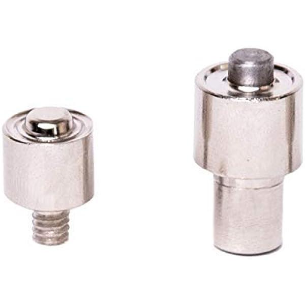 GETMORE Parts Spindelpressen Silber, 10,5 mm INOX bestehend aus Spindelpresse Edelstahl Drehspindel Set Druckknopfwerkzeug und 50 Jersey-Druckkn/öpfen