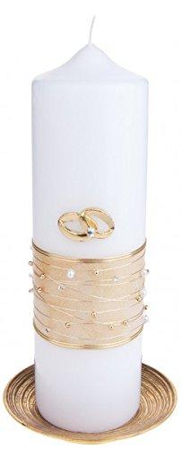 MaMeMi Hochzeitskerze: Perlenband ()