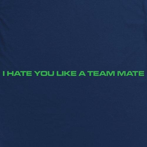 I Hate You Like A Team Mate T-Shirt, Damen Dunkelblau