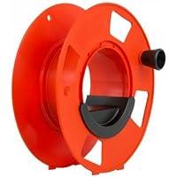 Mega bobina (28 x 12 cm, con manivela, carrete para cables, mangueras, cuerdas, etc.), incluye palanca.