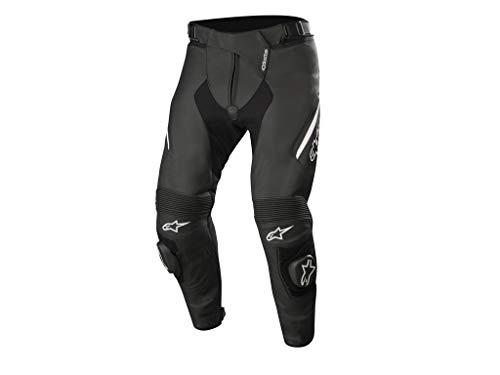Alpinestars Motorradhose Missile V2 Leather Pants Schwarz Weiss, Schwarz/Weiss, 50