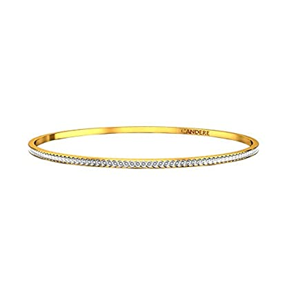 Candere By Kalyan Jewellers Contemporary Collection 22k Yellow Gold Cherrie Bangle