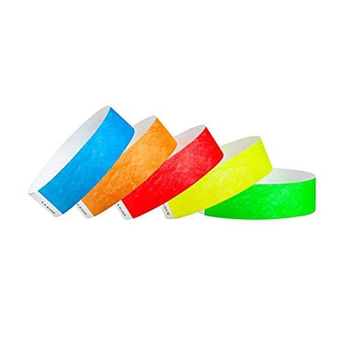 TOYANDONA Braccialetti monouso in carta per polsini usa e getta impermeabili e resistenti agli strappi per eventi-100 pezzi