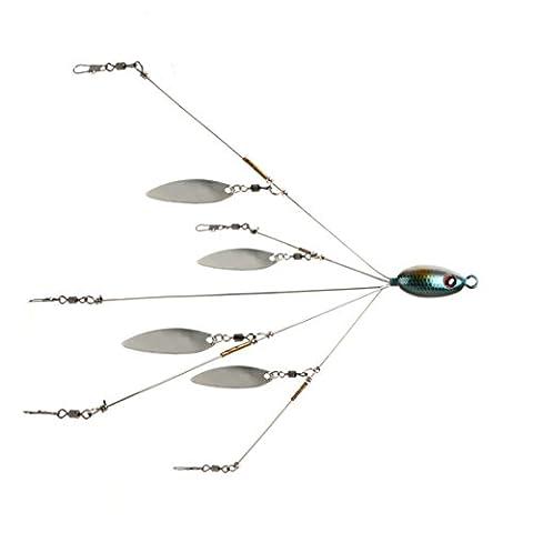 Andux Groupe de pêche Leurres Accessoires Alabama avec Paillettes Cinq Leurres Bait Disponible F-CG-01 (Blue Fish