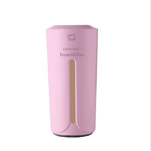 Smotly Umidificatore,diffusore di Oli Essenziali, Mini Coppa Colori silenziosa umidificatore Ambiente purificatore Aria casa diffusore di aromi,Rosa