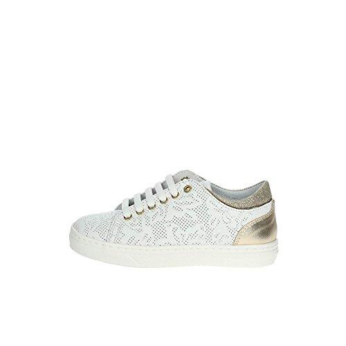 CIAO BIMBI - Chaussure à lacets blanche en cuir, soignée dans tous ses détails, fille, filles