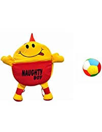 Jrp Mart Red Naughty Boy Soft Toy Bag With Little Ball