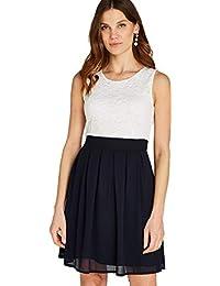 1d6a933558966 Apricot Damen Kleid mit Spitze und Color-Block,Cocktailkleid Sommerkleid  Partykleid