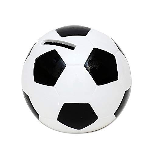 200141Hucha Fútbol-Aprox. 10x 10x 10cm, Negro, Blanco