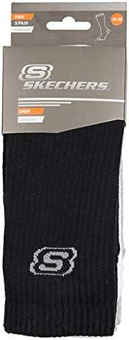 Skechers, Unisex, Padded Crew Cut Socks 3 Pack, Spor Çorabı, Çok Renkli (Multi 900), 35/38 (Üretici Ölçüsü: 35
