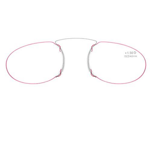 Tankaa Lesebrille für damen und herren transparent. Kompakte leichte randlose brillen. Brillengestelle für damen und herren 3 Farben und 5 Abstufungen
