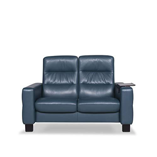 Stressless Designer Leder Sofa Blau Petrol Zweisitzer Couch #9648 - Leder-sofas Und Zweisitzer