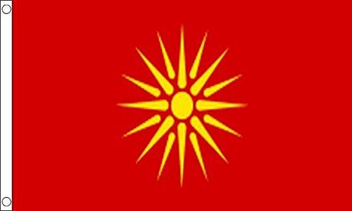 Mazedonien Old Flag 1.52 X meters 0.91 meters mazedonischen Country Banner mit 2 Ösen aus Metall -