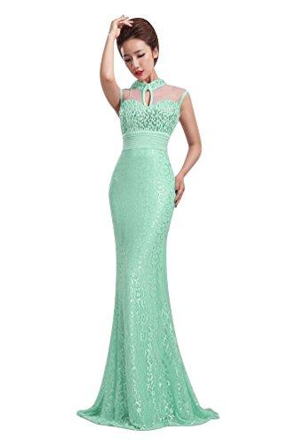 Beauty-Emily Damen Kleid Hellblau