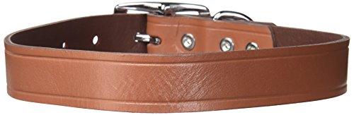 Ruff Maxx 10831 10Stück Hundehalsband aus Leder, 22, braun (Ruff Reflektierende Leine Wear)