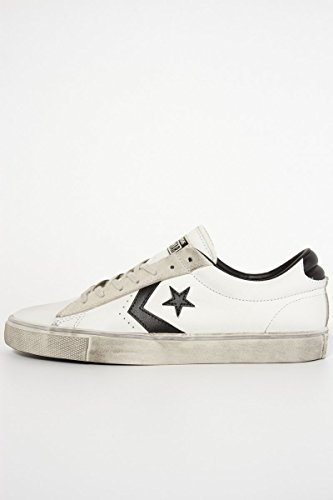 Converse Unisex-Erwachsene Lifestyle Pro Leather Vulc Distressed Ox Sneakers Mehrfarbig (Star White/Black/Vaporous Grey 100) 45 EU (Pro Converse Star)