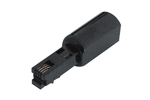 TPFNet Entwirrer für Telefonkabel/Twist-Stop/Spiralkabel Entwirrer, Schwarz -