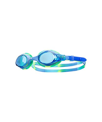 TYR Kinder Schwimmbrille Tie-Dye Swimple Antifog UV-Schutz blau grün (Blau Tie-dye Grün)