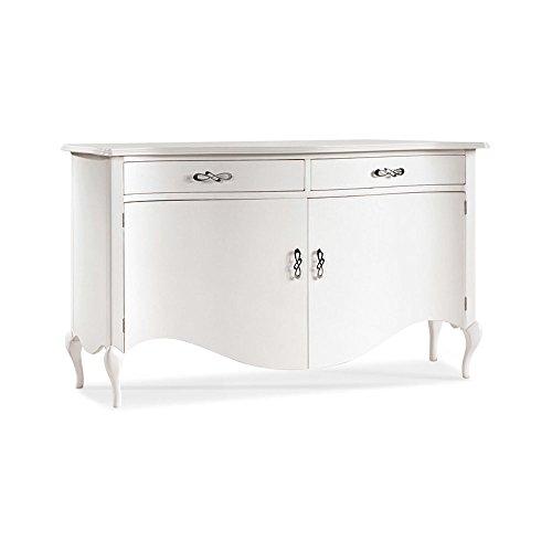 Blanc laqu/é Brillant 18/x 72/x 109/cm Valentini Nettuno Armoire /à Chaussures /à 3/tiroirs Bois