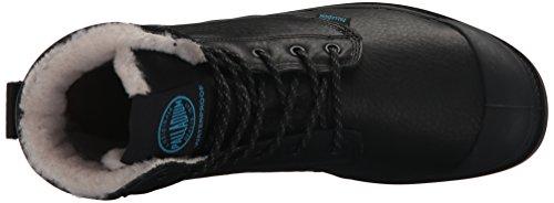 PalladiumPampa Sport Cuff WPS - Stivaletti imbottiti Desert con imbottitura calda Unisex – adulto Nero (Nero (Black 001))