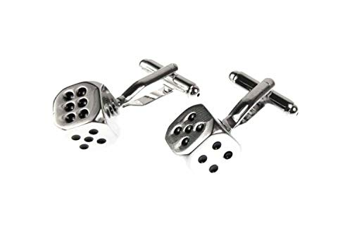 Miniblings Würfel Manschettenknöpfe Würfeln Poker Spielen Spiel Pokern mit Box