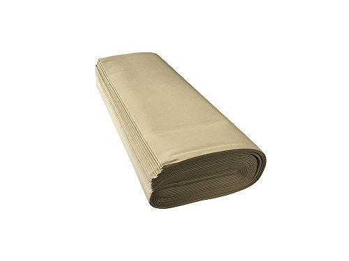 Panini Tessuti,Tessuto per Tende da Sole-Venduto a Mezzo Metro- 1 QUANTITA'=50 CM; 2 QUANTITA'=1METRO. Larghezza Fissa di 140 o 200 Cm-Tendoni da Esterno,Ottima Resistenza(H200 cm, Ecrù)