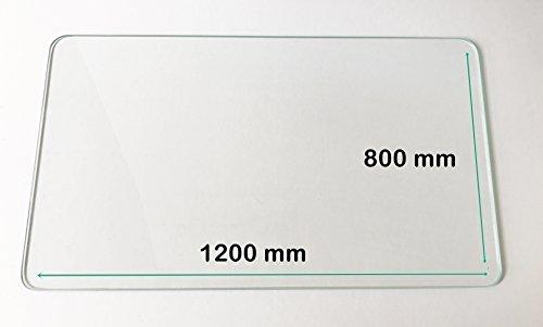Glasplatte/Tischplatte auch für Europaletten – ESG Sicherheitsglas/Klarglas 6 mm stark – 1200...