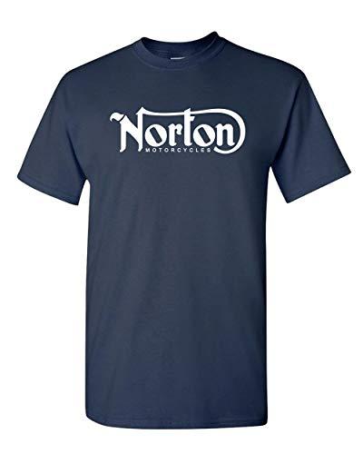 POPO Norton Motorcycle Classic Logo Racing Men's White Black T-Shirt Size S-3xl