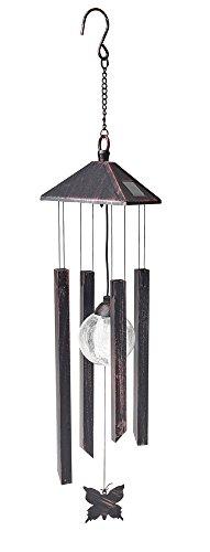 Cole&Bright L25203 Windspiel-Leuchte mit Farbwechsel Solar mit farbwechselnde LED, 12.5cm x 76cm -