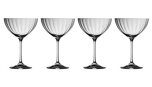 Galway Crystal Erne-Untertasse Champagner (Set von 4), Transparent, 4Stück Galway Crystal Set