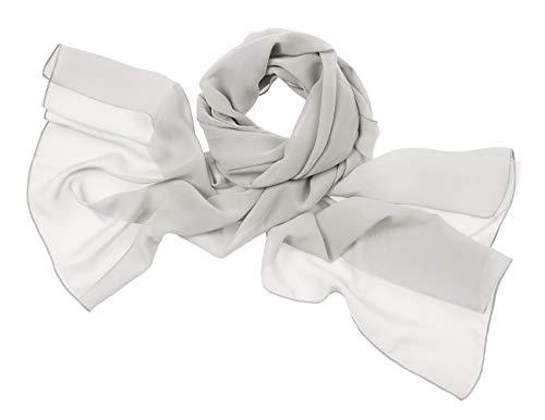 Bridesmay donna chiffon scialli da sposa prom wraps sera sciarpe silver grey l 200cm*75cm