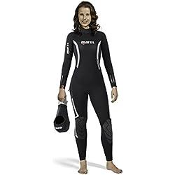 Mares Monosuit Pioneer 7 mm-She Dives Combinaison de plongée pour Femme Noir Noir S2