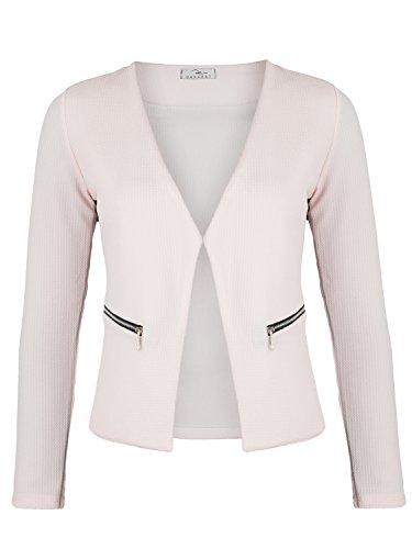 Damen Blazer mit Taschen ( 382 ), Farbe:Rosa, Kostüme & Blazer für Damen:44 / - Rosa Damen Kostüm