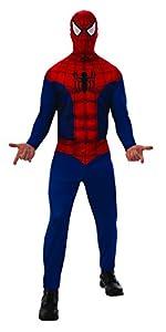 Marvel - Disfraz de Spiderman para hombre, Talla M adulto (Rubie
