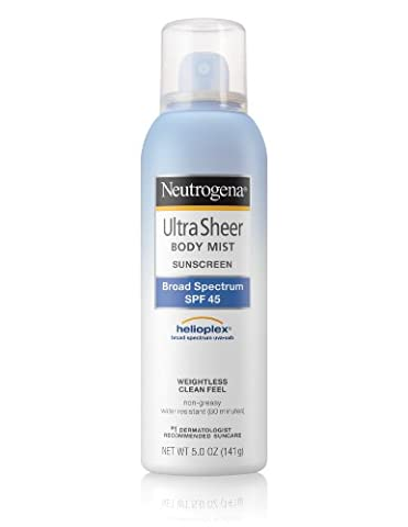 Neutrogena Ultra Sheer Body Mist with Sunblock SPF 45, 5 Oz (Sonnenschutzmittel)