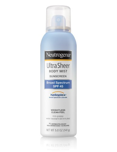Neutrogena Ultra Sheer Body Mist with Sunblock SPF 45, 5 Oz (Sonnenschutzmittel) (Sunscreen Spray Neutrogena)