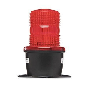 Low Profile Warning Light, Strobe, Red by Federal Signal Low-profile-strobe Light