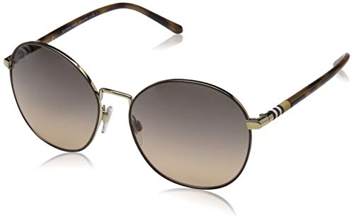 BURBERRY Damen 0Be3094 1257G9 56 Sonnenbrille, (Gold/Brown Grey)