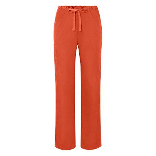adar-universal-unisex-natural-rise-drawstring-tapered-leg-scrub-pants-504-mandarin-orange-2x