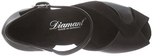 Diamant Damen Tanzschuhe 011-011-070, Chaussures de Danse de Salon Femme Noir - Noir