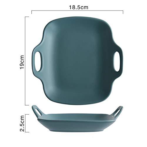 te Keramik Binaural Tablett Haushaltsgeschirr Frühstück Teller Steak Dish Backen Schüssel Backform Für Ofen Obstkuchen Platte ()