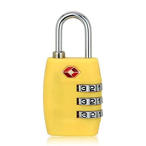 Guoyihua TSA Candado de Seguridad con contraseña para Maleta de Viaje, Amarillo Amarillo - HIS9X01073EUKE5U14VO2A...