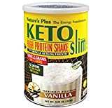 Nature'S Plus Ketoslim Vanilla Shake With Critical Keto Nutrients 0.8 Lb Powder