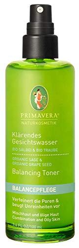 Primavera Klärendes Gesichtswasser Salbei Traube, 100 ml